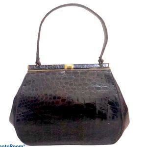 Vintage Bellestone Brown Alligator Handbag
